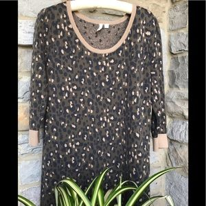 Frenchi 100% Cotton Leopard Print Dress Size Large